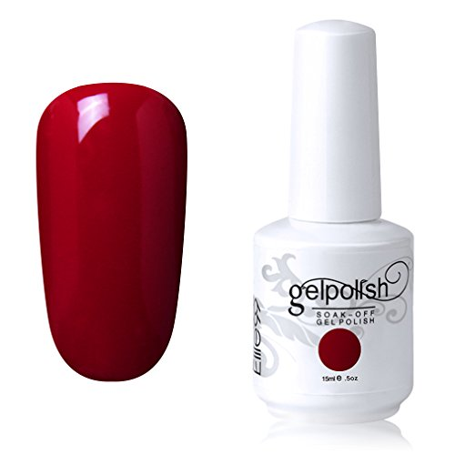 Elite99 Gel Nail Polish Soak off UV LED Nail Lacquers Varnish Nail Art Manicure 15ML (1539 - Red)