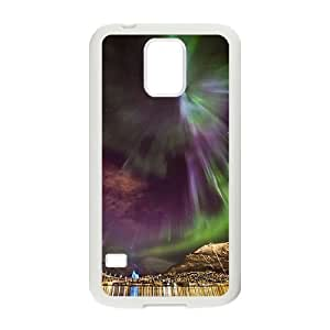 The Aurora Borealis Customized Cover Case with Hard Shell Protection for SamSung Galaxy S5 I9600 Case lxa#379943