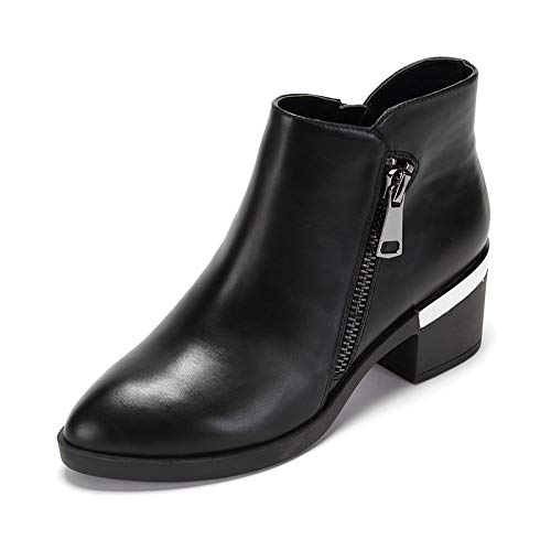 Shukun Bottes Autumn and Short Winter Fashion Boots Short and Tube Long Thin Skinny Boots Women 36|Black K ec5a06