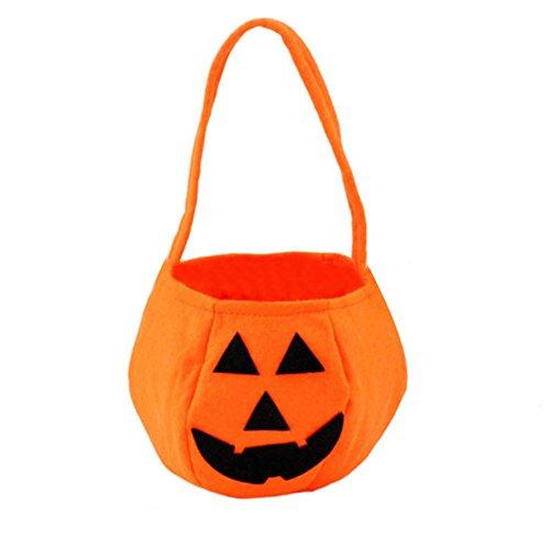 Weinxinbuy Halloween Lächeln Kürbis Tasche Kinder Süßigkeit Beutel Kind Geschenk Dekoration Handtasche