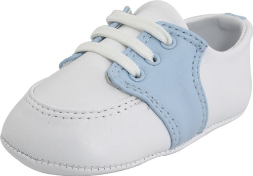 Baby Deer Conner,White/Light Blue Leather,2 M US Infant - Leather Deer White Baby