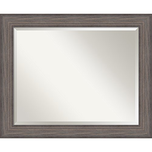 Bathroom Mirror Large, Country Barnwood: Outer Size 34 x (Barnwood Vanity)