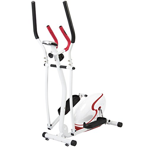 Best choice products red magnetic elliptical trainer fitness space saver machine cardio workout - Best cardio equipment for small spaces property ...