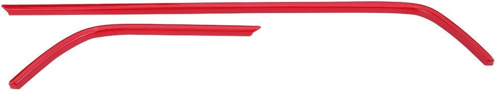 KIMISS 2 pi/èces Couverture de Cadre Ext/érieur de Voiture en ABS D/écoration de Garniture rouge