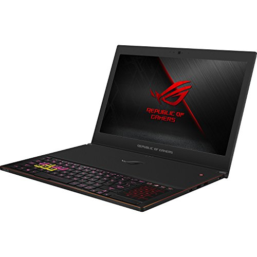 "ASUS ROG Zephyrus GX501GI-XS74 Slim and Light Gaming and Business Laptop (Intel 8th Gen Coffee Lake i7-8750H, 16GB RAM, 512GB PCIe SSD, 15.6"" FHD 1920x1080 G-SYNC, GTX 1080, Win 10 Pro) Metallic Black"