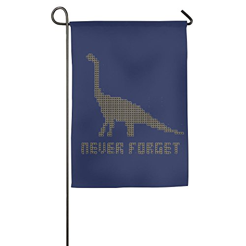 Buecoutes Never Forget Dinosaurs Home Family Party Flag 1218inch Hipster Welcomes The Banner Garden Flags