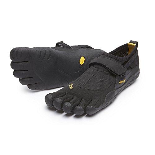 Vibram FiveFingers Men's KSO Barefoot Shoes Black/Black 43 & Toesock - Fivefingers Kso