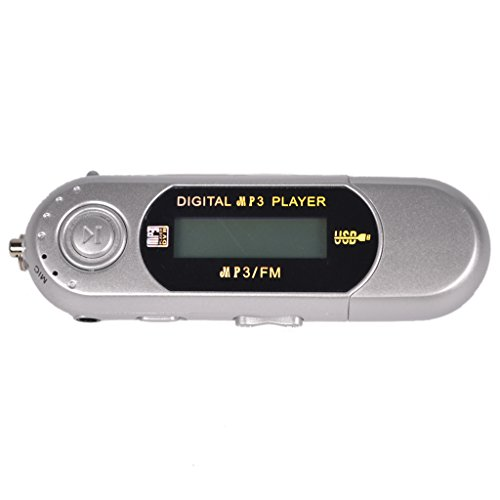 32GB MP3 WMA USB Music Player With LCD Screen FM Radio Voice Recorder Sliver