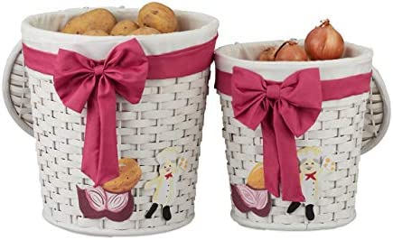 Relaxdays Set de dos cestas de almacenaje, Cajas decorativas con ...