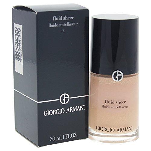 Giorgio Armani Fluid Sheer # 2 Shimmering Beige Complexion, 1.0 Ounce (Sheer Armani Fluid)