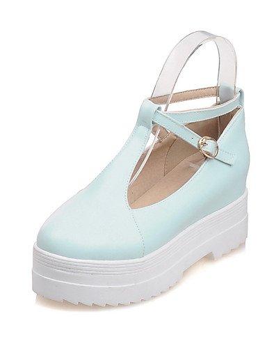GGX/ Damenschuhe-High Heels-Büro / Lässig-PU-Niedriger Absatz-Komfort / Rundeschuh-Blau / Rosa / Beige pink-us5 / eu35 / uk3 / cn34