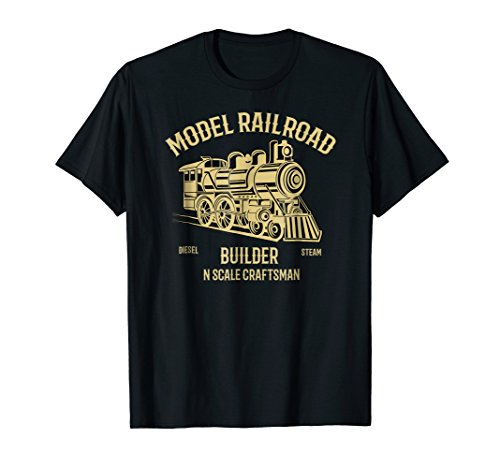N Scale Model Railroad Builder T-Shirt, used for sale  Delivered anywhere in USA
