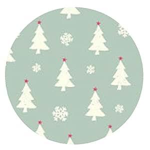 alfombrilla de ratón Fondo inconsútil de la Navidad - ronda - 20cm