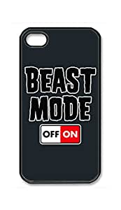 RainbowSky iPhone 4 4G 4S Case - Beast Mode On Hard Plastic Back Protection Phone Case Cover -884