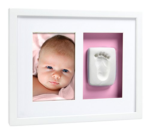 Pearhead Babyprints Baby Handprint or Footprint Wall Photo Frame & Impression Kit, White by Pearhead