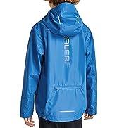 BALEAF Boys' Waterproof Rain Jacket Kids Youth Lightweight Windbreakers Girl Cycling Raincoat Out...