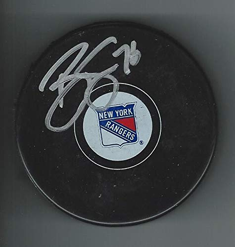Brady SKJEI Signed NEW YORK RANGERS Puck - Autographed NHL Pucks Sports Memorabilia