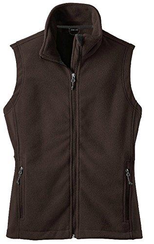 Joe's USA(tm) - Womens Soft and Cozy Fleece Vest in Womens Sizes (Brown Fleece Vest)