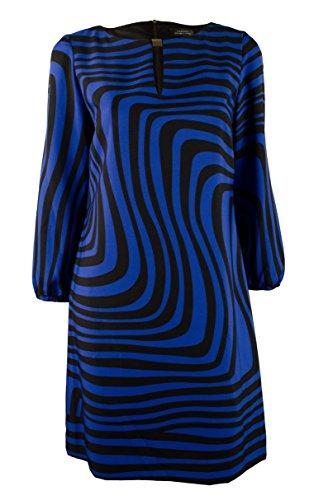 - Tahari by ASL Women's Geo-Print Belted Shift-CB-4 Cobalt Blue