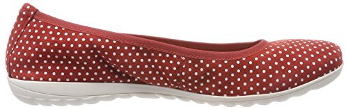 Ballet Dots Red Red Women's 22142 Caprice Flats Closed Toe 521 qIa6wOx