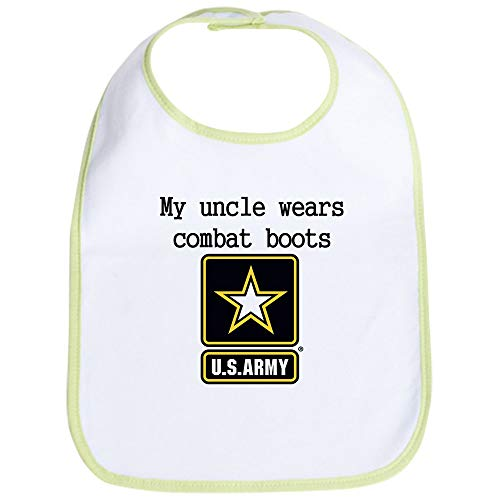 Cute Army Clothes (CafePress My Uncle Wears Combat Boots Army Bib Cute Cloth Baby Bib, Toddler)