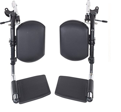 Wheelchair Elevating Legrests with Padded Calf Pads 1 Pair By Healthline Trading Wheelchair Footrest