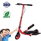 RISILAYS Multifunction New Three Wheel Kick Scooter Winged Speeder- Perfect For Children Adult Fitness Featuring Wheels, Foldable Design, Adjustable Handles & Lightweight Construction,campus scooter