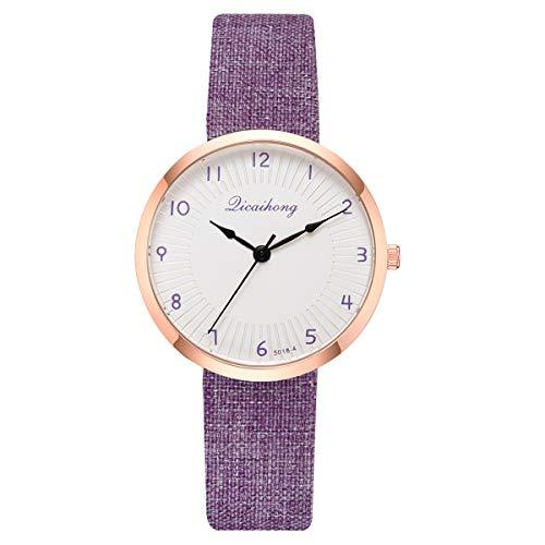 (LUCAMORE Womens Leather Watch,Fashion Casual Dress Watches,Arabic Numerals Quartz Ladies Wrist Watch)