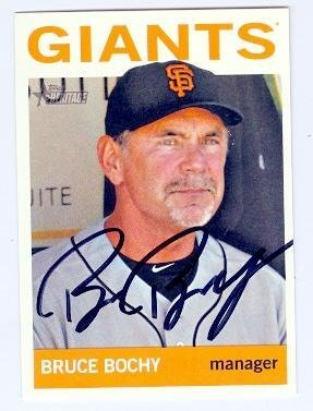 Bruce Bochy autographed Baseball Card (San Francisco Giants) 2013 Topps Heritage #87 - Baseball Slabbed Autographed Cards