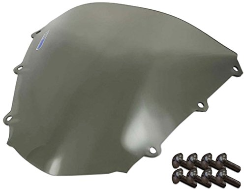 Sportbike Windscreens ADHW-105S Smoke Windscreen (Honda Cbr 1000RR (04-07) With Silver screw kit),2 Pack