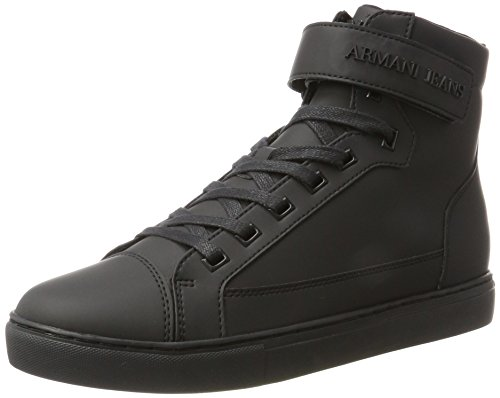Armani High Cut, Sneaker a Collo Alto Uomo Nero (Nero)