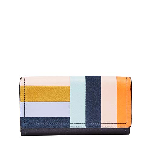 (Fossil Logan RFID Flap Clutch Bright Patchwork)