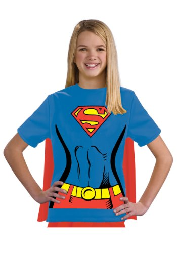 - 41OILEugGAL - Justice League Child's Supergirl 100% Cotton T-Shirt