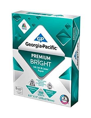 """Georgia-Pacific (8.5""""x11"""") 96 Bright, Advantage Premium Bright ColorLok Acid Free Printer Paper - 2500 Sheets"""