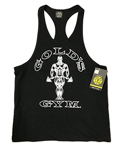 (Gold's Gym Tank Top - Official Licensed - TT-1 (S, Black))