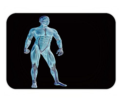 Beshowere Doormat High Resolution Concept Or Conceptual Human Or Man D Anatomy Body With Muscle Isolated On Black