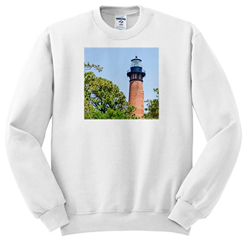 3dRose Danita Delimont - Lighthouses - Currituck Beach Lighthouse, Corolla, Outer Banks, North Carolina, USA. - Sweatshirts - Adult Sweatshirt Medium (SS_259804_2)