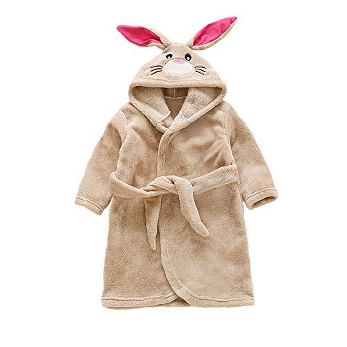 (Toddler Baby Boys Girls Cartoon Bathrobe Thickened Flannel Robe Winter Night-Robe)