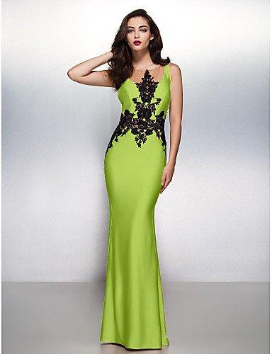 Lazo Noche Prom Boca De Lime Trompeta HY Formal Tren Con Green Vestido amp;OB Sirena Negro Barrer Gala Jersey Cepillo Apliques Cuello 7vBzqBxZ