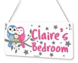 Owl Family Personalised Childs Bedroom Door Sign