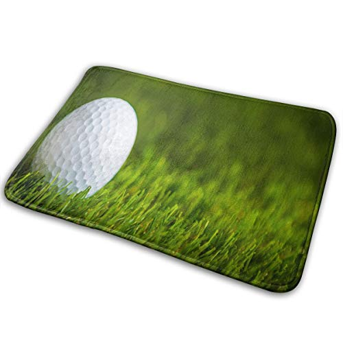 FunnyCustom Doormat Golf Grass Vintage Non Slip Water Absorption Entrance Mats for Bathroom