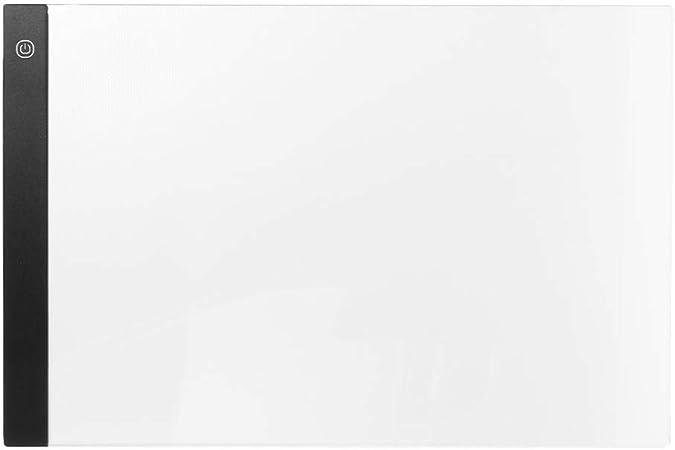Tablero de trazado LED, caja de luz para dibujo, almohadilla de mesa de dibujo A3 con luz LED, control táctil, dibujo, trazado, animación, copia, panel de placa: Amazon.es: Hogar