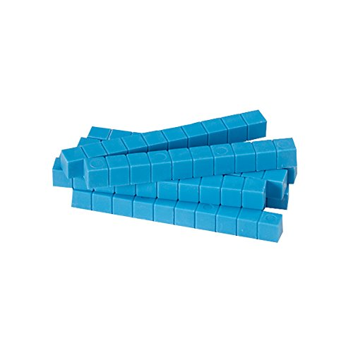(hand2mind Blue Plastic Base Ten Blocks, Rods (Pack of 50) )