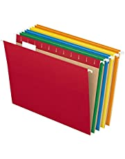 Pendaflex PFX81663 Recycled Hanging File Folders, Letter Size, Assorted Colors, Two-Tone for Foolproof Filing, 1/5-Cut Adjustable Tabs (25 Per Box)