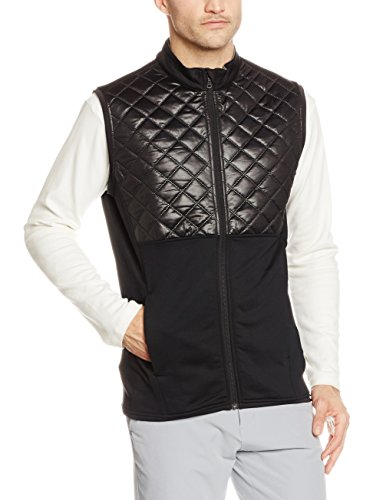 Adidas Golf 2016 Climaheat Prime Fill Gilet Insulated Quilted Mens Golf Thermal Vest Black Large