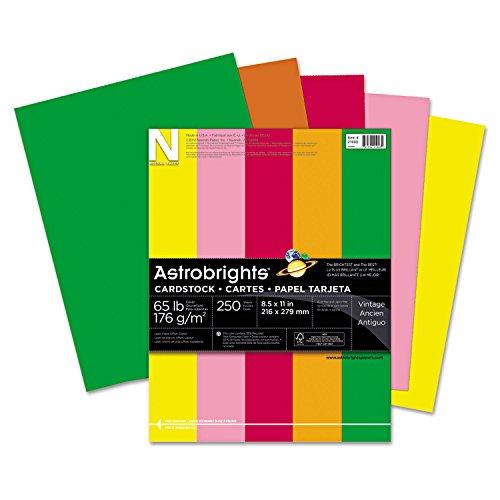 - Neenah Paper 21003 Color Cardstock, 65lb, 8 1/2 x 11, Assorted, 250 Sheets