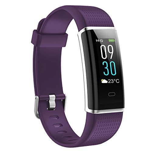 AUSUN Fitness Tracker, 130C Activity Tracker Color Screen, Smart Watch IP68 Waterproof, Step Counter, Calorie Counter, Sleep Monitor, Heart Rate Monitor Watch Kids Women Men