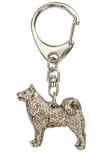 Finnish Spitz Made in U.K Artistic Style Dog Key Ring -