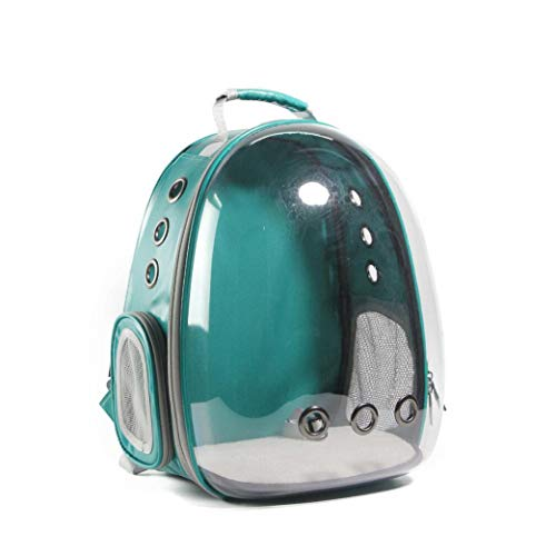 cola-site Cat-Carrying Backpack Pet Cat Backpack for Kitty Puppy Carrier Crate Outdoor Travel Bag Cave for Cat,Green ()