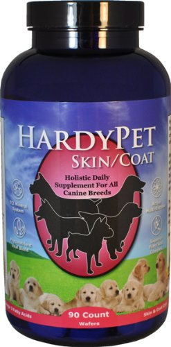 HardyPet 90-Count Skin and Coat Supplement Bottle for Pets